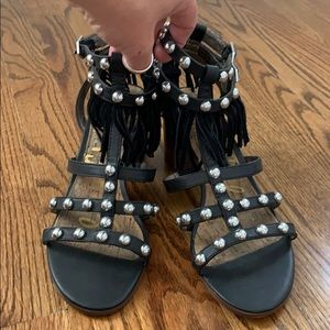 Sam Edelman fringe studded sandals